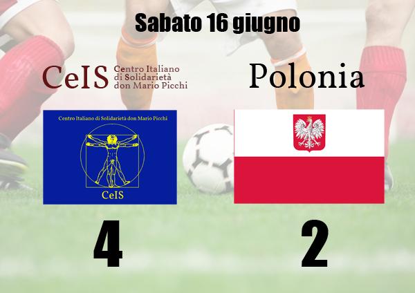 Il CeIS batte la rappresentativa polacca per 4 a 2 al mundialido, torneo di calcio per stranieri