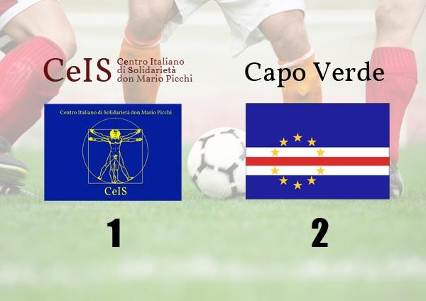 risultato di 1-2 del confronto calcistico tra ceis e capo verde al mundialido 2012