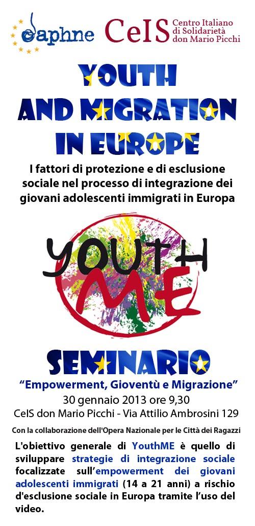 seminario youth me al centro italiano di solidarietà di roma: empowerment, giovani, migrazioni